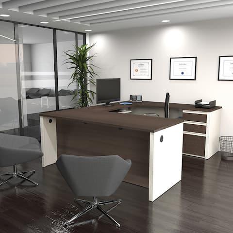 Bestar Prestige U-shaped Workstation Desk Kit