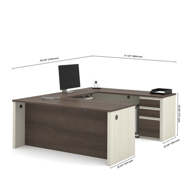 Bestar Prestige U-shaped Workstation Desk Kit