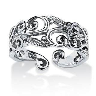 PalmBeach Ornate Scroll-Work Ring in Sterling Silver Tailored