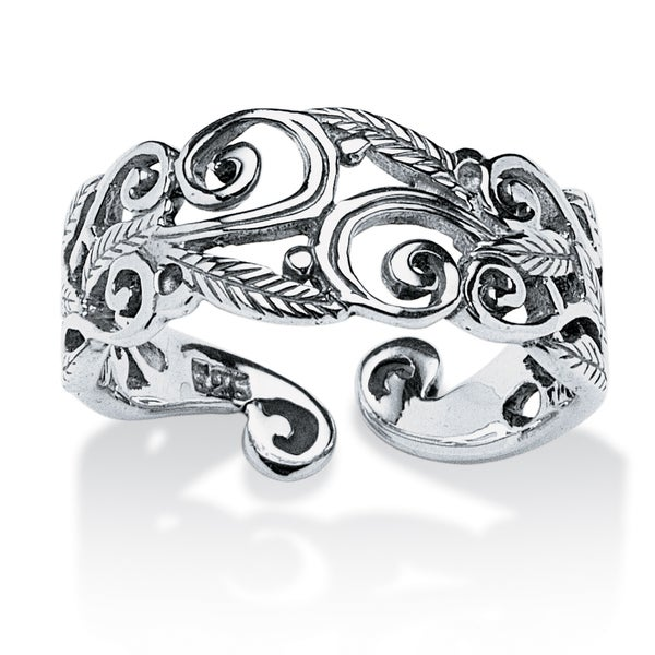 Ornate Scroll-Work Ring in Sterling Silver Tailored