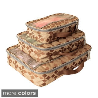American Flyer Argyle Perfect Packing Cube 3-piece Set