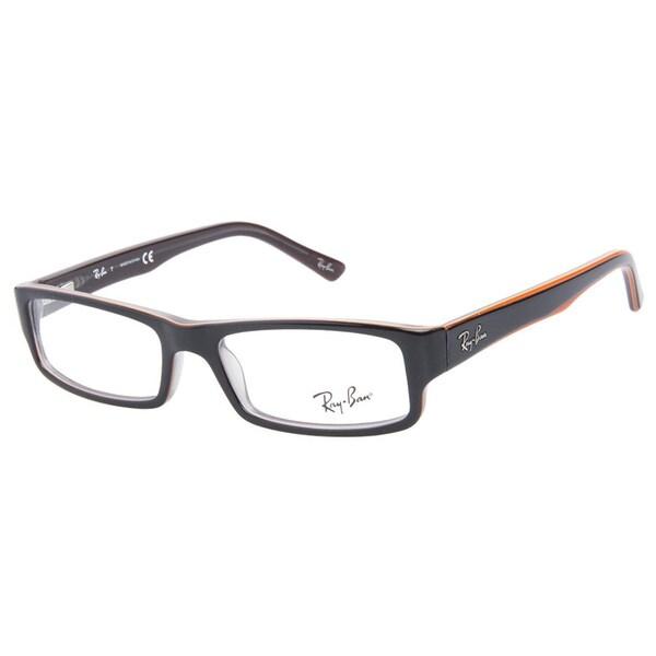 Ray-Ban RB5246 5091 Brown Orange Prescription Eyeglasses ...