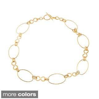 Simon Frank Gold Overlay High Fashion Allure Chain Necklace