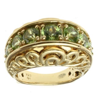 Dallas Prince Gold over Silver Peridot Ring