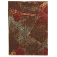 Nourison Somerset Multicolor Abstract Design Rug (2' x 2'9) - 2' x 2'9