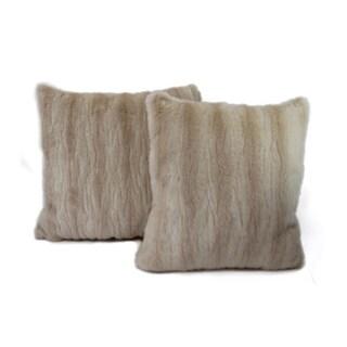 Austin Horn Classics Roubaix Luxury Fur Decorative Pillows (Set of 2)