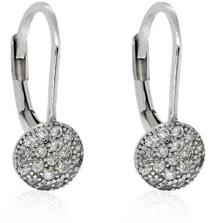 Molly and Emma Sterling Silver Cubic Zirconia Circle Earrings