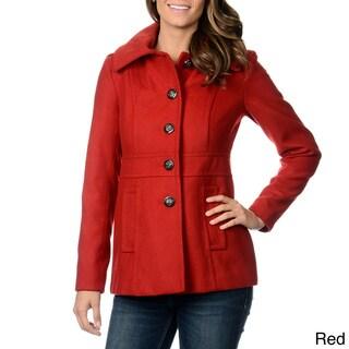 Kensie Women's Hooded Single Breasted Coat