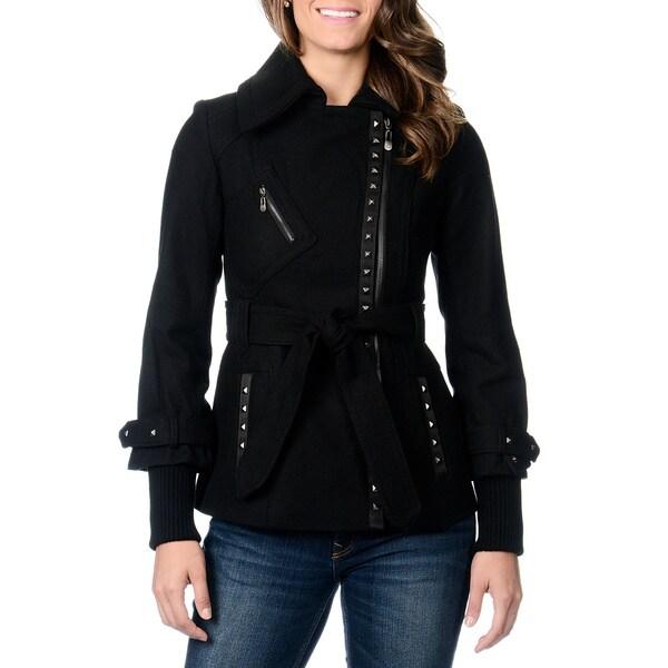 Shop Kensie Women's Grommet Trimmed Coat