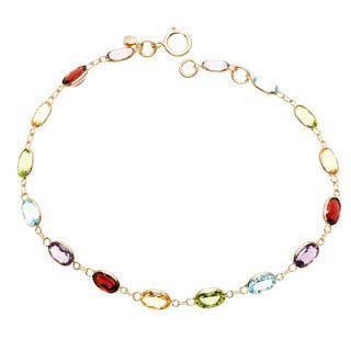 14k Yellow Gold Oval-cut Multi-gemstone Bracelet https://ak1.ostkcdn.com/images/products/8610527/14k-Yellow-Gold-Oval-cut-Multi-gemstone-Bracelet-P15878280.jpg?impolicy=medium