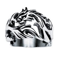Men's Dragon Cutout Ring in Stainless Steel Sizes 9-16
