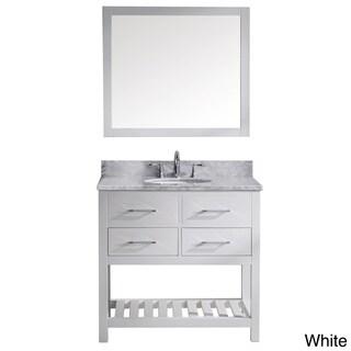 Caroline Estate 36-inch Single Vanity White Marble with Mirror