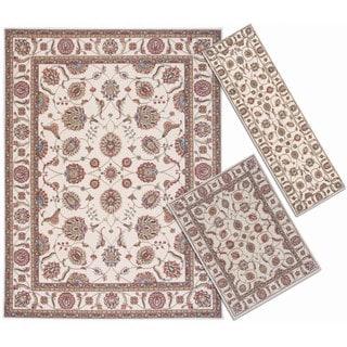 Nourison Persian Floral Collection Ivory Rug 3pc Set 2'2 x 7'3, 3'11 x 5'3, 7'10 x 10'6