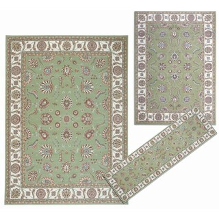 Nourison Persian Floral Collection Green Rug 3pc Set 2'2 x 7'3, 5'3 x 7'3, 7'10 x 10'6