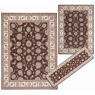 Nourison Persian Floral Collection Brown Rug 3pc Set 2'2 x 7'3, 5'3 x 7'3, 7'10 x 10'6