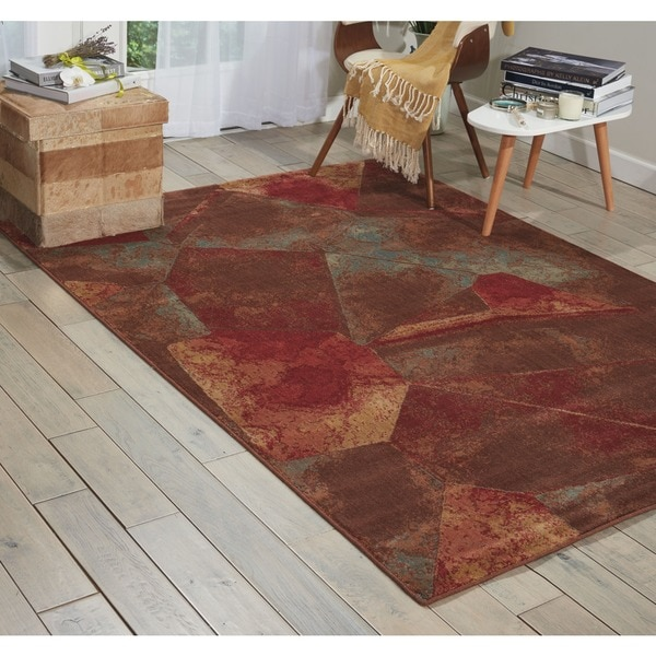 Nourison Somerset Multicolor Abstract Design Rug - 7'9 x 10'10