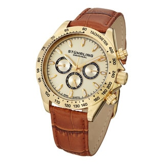 Stuhrling Original Men's Triumph Classic Swiss Quartz Strap Strap Watch