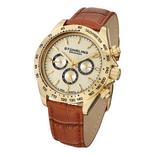 Stuhrling Original Men's Triumph Classic Swiss Quartz Strap Strap Watch