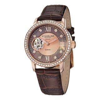 Stuhrling Original Women's Memoire Automatic Strap Strap Watch|https://ak1.ostkcdn.com/images/products/8610874/P15878404.jpg?impolicy=medium