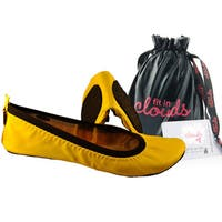 Womens' Neon Citron Folding Flats