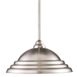Z-Lite 1-light Brushed Nickel Pendant Light