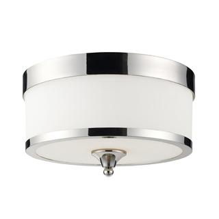 Z-Lite 3-light Milk White Shade Flush Mount