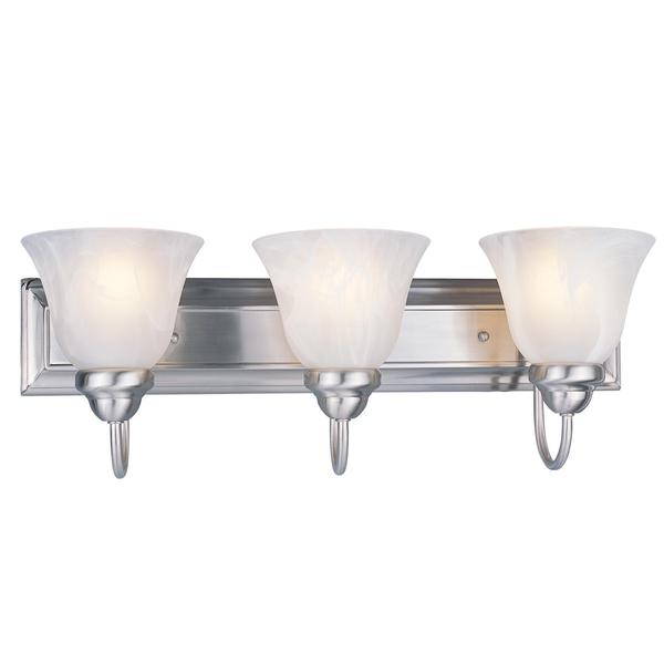 Avery Home Lighting 3-light 60-watt Brushed Nickel Vanity Light