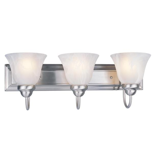 Z-Lite 3-light 60-watt Brushed Nickel Vanity Light