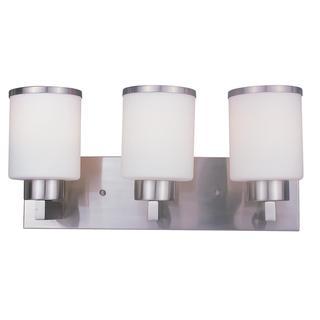 Z-Lite White Glass 3-light Vanity