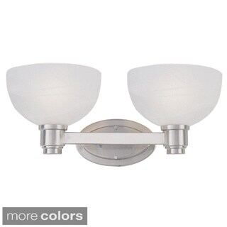 Z-lite Modern 2-light Frosted Glass Vanity Fixture