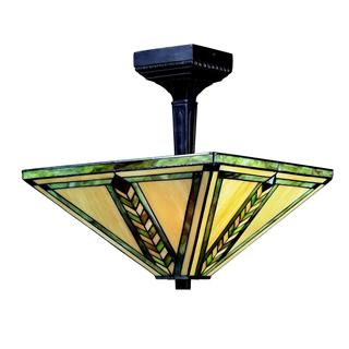 Z-Lite 2-light Semi Flush Mount Ceiling Light
