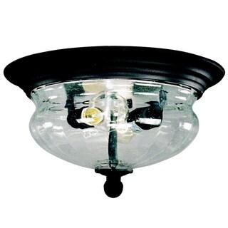 Z-Lite Black Outdoor Flush Mount Light