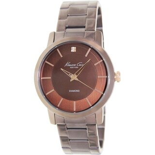 Kenneth Cole Men's Newness Brown Stainless-Steel Quartz Watch with Brown Dial