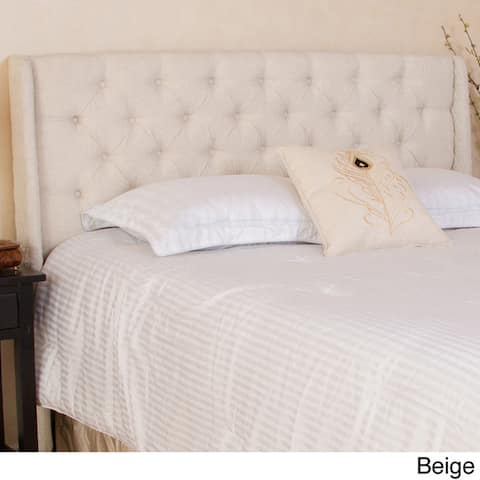Perryman Adjustable Full/ Queen Tufted Fabric Headboard by Christopher Knight Home