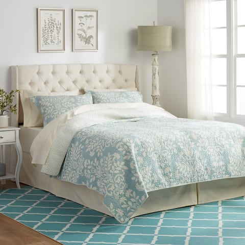 Perryman Adjustable Full/Queen Tufted Fabric Headboard by Christopher Knight Home