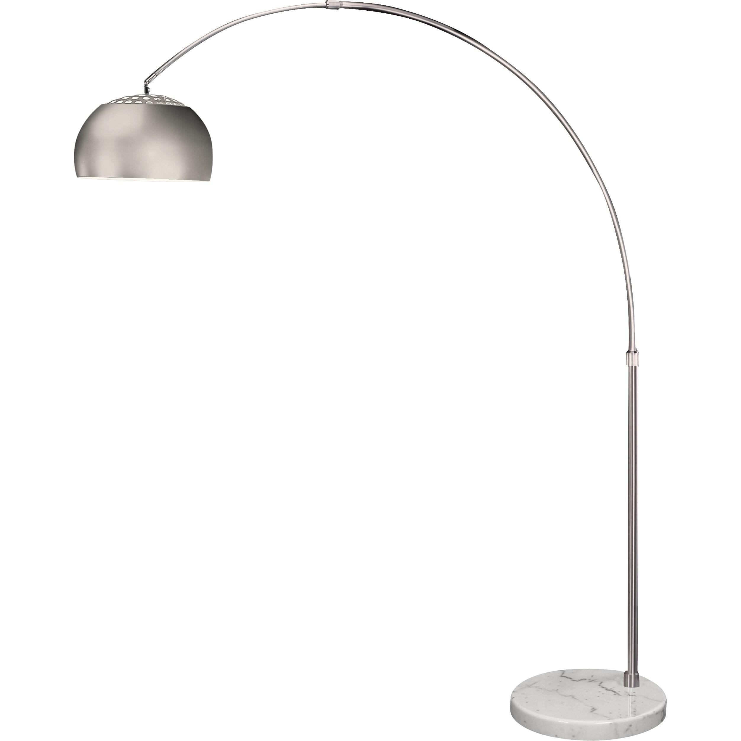 Light Brushed Nickel Arc Floor Lamp