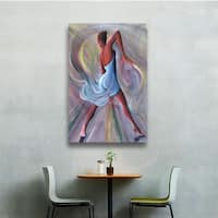 Art Wall Ikahl Beckford 'Blue Dress' Gallery-Wrapped Canvas