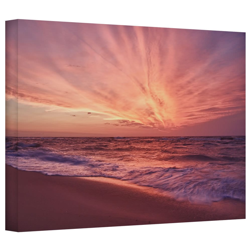 Art Wall Dan Wilson Outer Banks Sunset Iii Gallery Wrapped Canvas Overstock 8611707