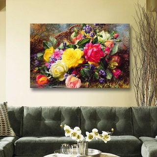 Albert Williams 'Roses from a Victorian Garden' Gallery-wrapped Canvas Wall Art