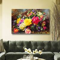 Laurel Creek 'Roses from a Victorian Garden' Gallery Wrapped Canvas Wall Art