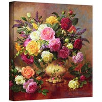 Albert Williams 'Roses from a Victorian Garden' Gallery-Wrapped Canvas Art