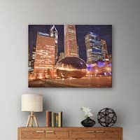 Art Wall Dan Wilson Chicago- The Bean I Gallery-Wrapped Canvas