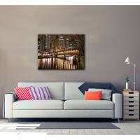Dan Wilson 'Chicago-Michigan Avenue Bridge' Gallery-wrapped Canvas Wall Art