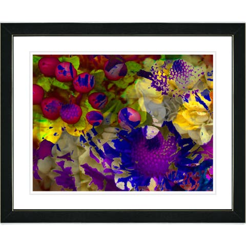 Zhee Singer 'Purple Flowers and Berries' Framed Art Print