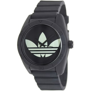 Adidas Men's Santiago ADH2853 Black Silicone Quartz Watch with Black Dial
