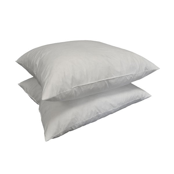 Euro Square 26 x 26-inch Feather Pillow Insert (Set of 2)