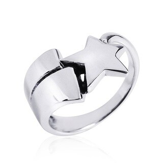 Handmade Celestial Shooting Star .925 Sterling Silver Ring (Thailand)