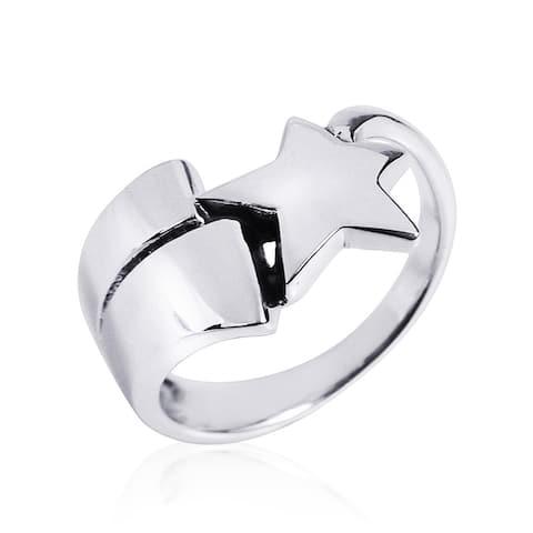 Handmade Celestial Shooting Star .925 Sterling Silver Ring (Thailand)