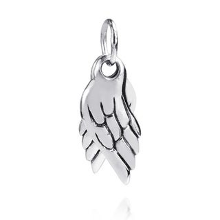Handmade Unique Dangle Angel Wings Sterling Silver Pendant (Thailand)