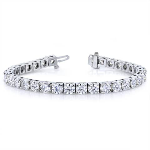 Annello by Kobelli 10k White Gold 16 1/2 Carats TGW Moissanite Tennis Bracelet (HI/VS)